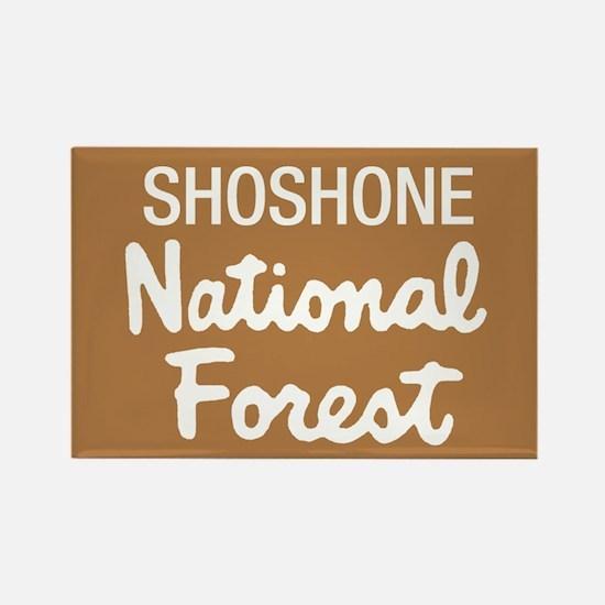 Shoshone National Forest (Sign) Rectangle Magnet