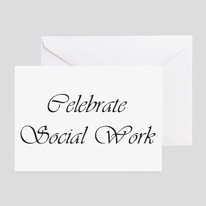 Celebrate SW (black) Greeting Cards (Pk of 10)