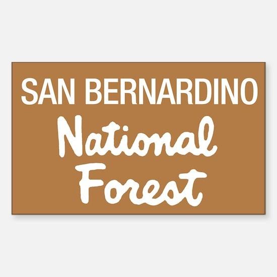 San Bernardino National Forest (Sign) Decal
