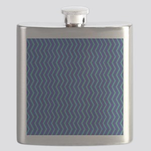 Blue on Blue Chevron Flask