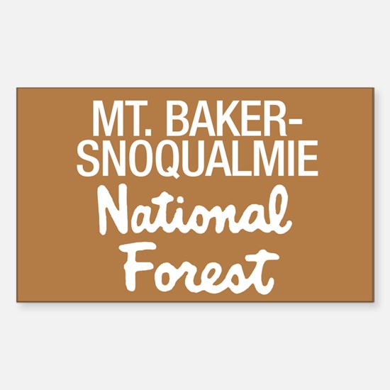 Mt. Baker-Snoqualmie (Sign) N Sticker (Rectangular