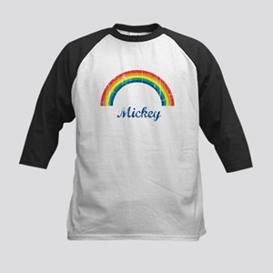 Mickey vintage rainbow Kids Baseball Jersey