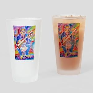 Blues man! Music, art! Drinking Glass