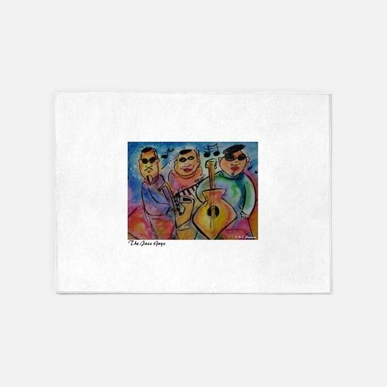 jazz guys, music art! 5'x7'Area Rug