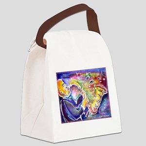 Music! Fun, colorful, sax! Canvas Lunch Bag