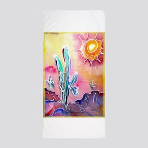 Desert, bright, southwest art! Beach Towel