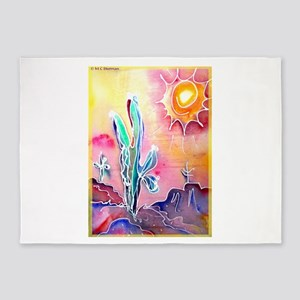 Desert, bright, southwest art! 5'x7'Area Rug