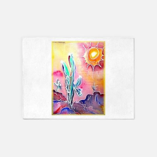 Desert, bright, southwest art! 5'x7'Area Rug
