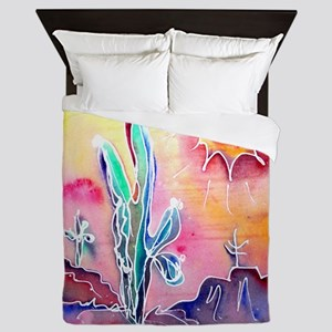 Desert, bright, southwest art! Queen Duvet