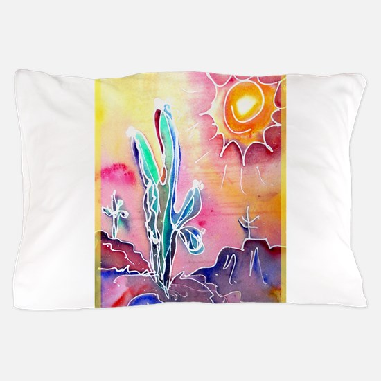 Desert, bright, southwest art! Pillow Case