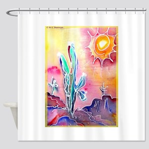 Desert, bright, southwest art! Shower Curtain