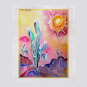 Desert, bright, southwest art! Throw Blanket