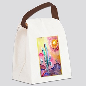 Desert, bright, southwest art! Canvas Lunch Bag