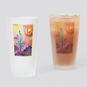 Desert, bright, southwest art! Drinking Glass