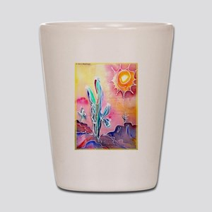 Desert, bright, southwest art! Shot Glass