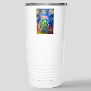 cactus at night! soutwest art! Travel Mug