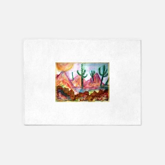 Desert! Southwest art! 5'x7'Area Rug