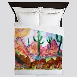 Desert! Southwest art! Queen Duvet