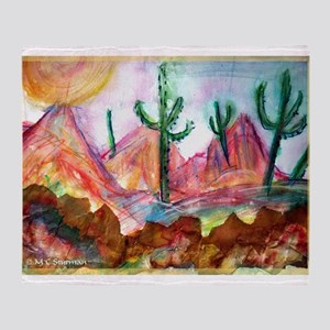 Desert! Southwest art! Throw Blanket