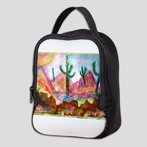 Desert! Southwest art! Neoprene Lunch Bag