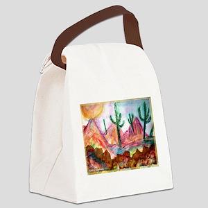 Desert! Southwest art! Canvas Lunch Bag