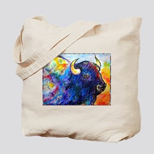 Buffalo, colorful art! Tote Bag