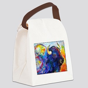 Buffalo, colorful art! Canvas Lunch Bag