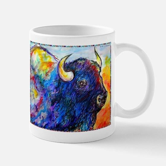 Buffalo, colorful art! Mugs