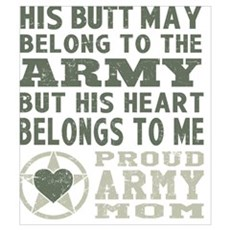 Proud Army Mom  Canvas Art
