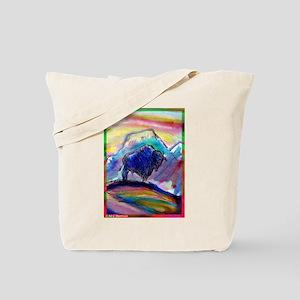 Buffalo, colorful, art! Tote Bag