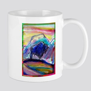 Buffalo, colorful, art! Mugs
