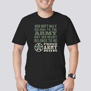Proud Army Mom 2 Men's Fitted T-Shirt (dark)