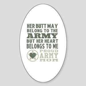 Proud Army Mom 2 Sticker (Oval)