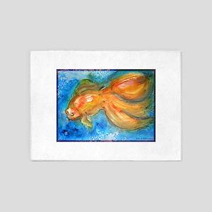 Goldfish, fun art! 5'x7'Area Rug