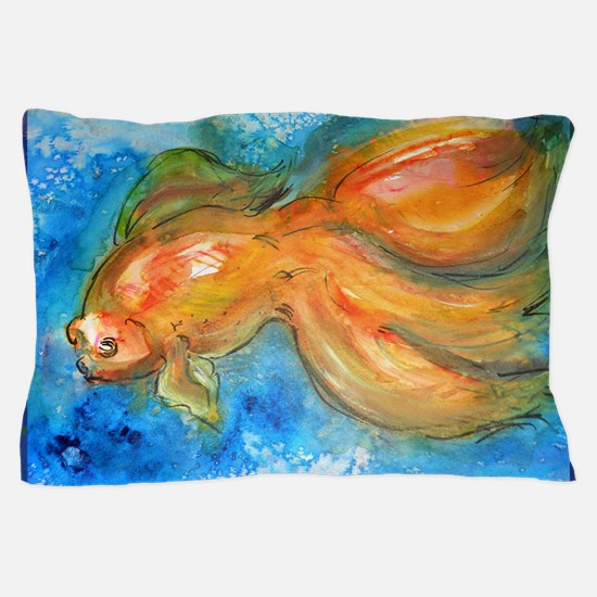 Goldfish, fun art! Pillow Case