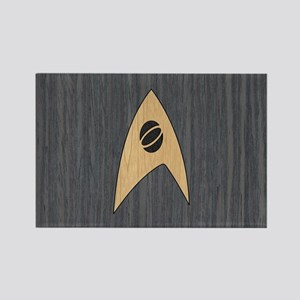 STARTREK TOS SCI WOOD 1 Rectangle Magnet