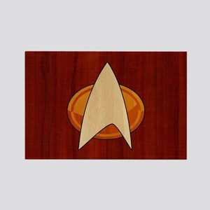 STARTREK TNG WOOD 1 Rectangle Magnet