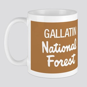 Gallatin National Forest (Sign) Mug