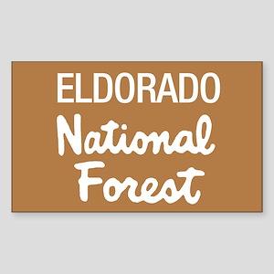 Eldorado National Forest (Sign) Sticker (Rectangul