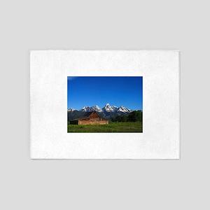 Grand Tetons Naional Park 5'x7'Area Rug