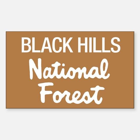 Black Hills (Sign) National F Sticker (Rectangular