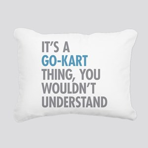 Go-Kart Thing Rectangular Canvas Pillow
