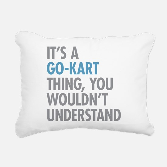 Go-Kart Thing Rectangular Canvas Pillow