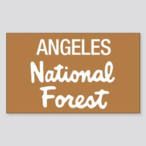 Angeles (Sign) National Forest Sticker (Rectangula