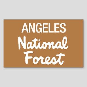 Angeles (Sign) National Forest Sticker (Rectangula