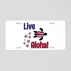 Live Aloha! Hawaii Aluminum License Plate