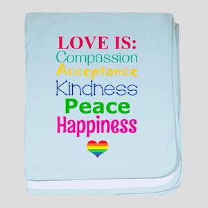 Gay Pride Love Is... baby blanket