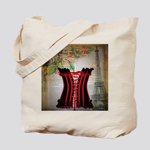 hot corset vintage paris Tote Bag