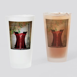 hot corset vintage paris Drinking Glass