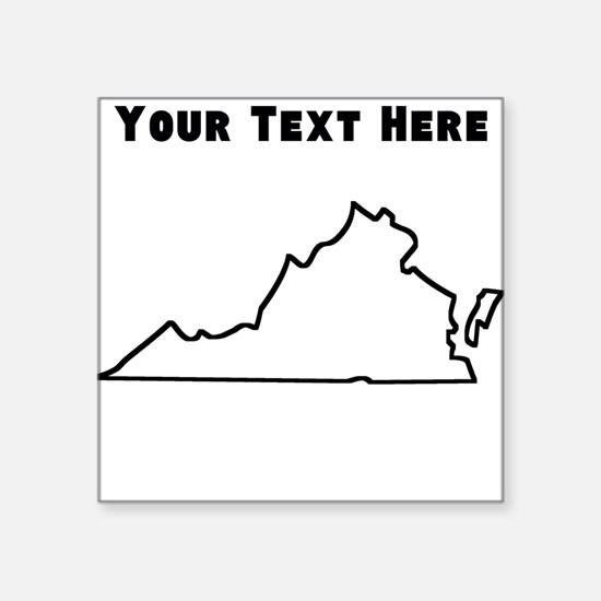Virginia Outline (Custom) Sticker
